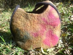 geräumige Tasche, braunes Bergschaf