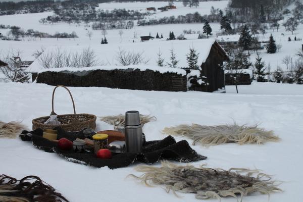 Picknick im Schnee